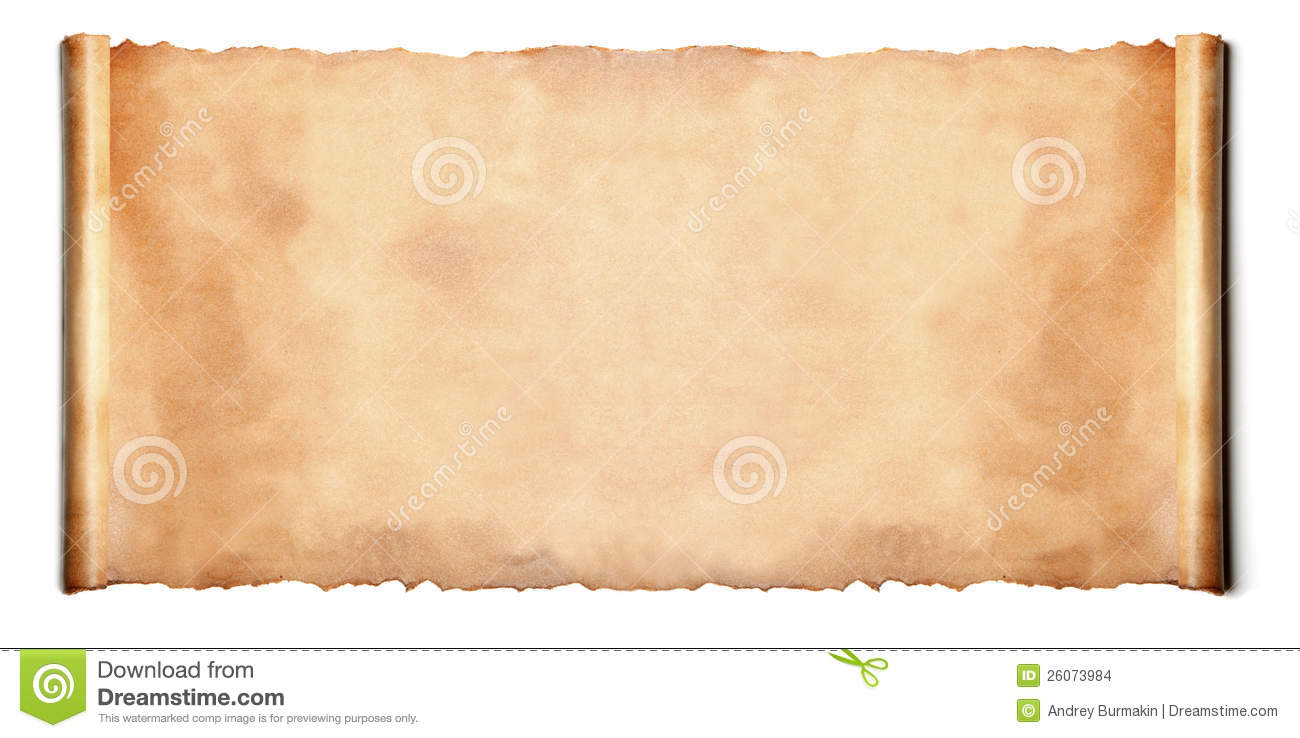 Horizontal Ancient Scroll Stock Images - Image: 26073984