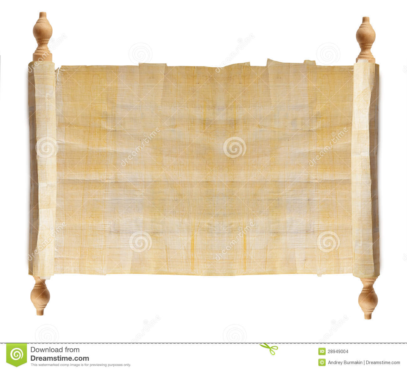 Horizontal Ancient Scroll Stock Images - Image: 28949004