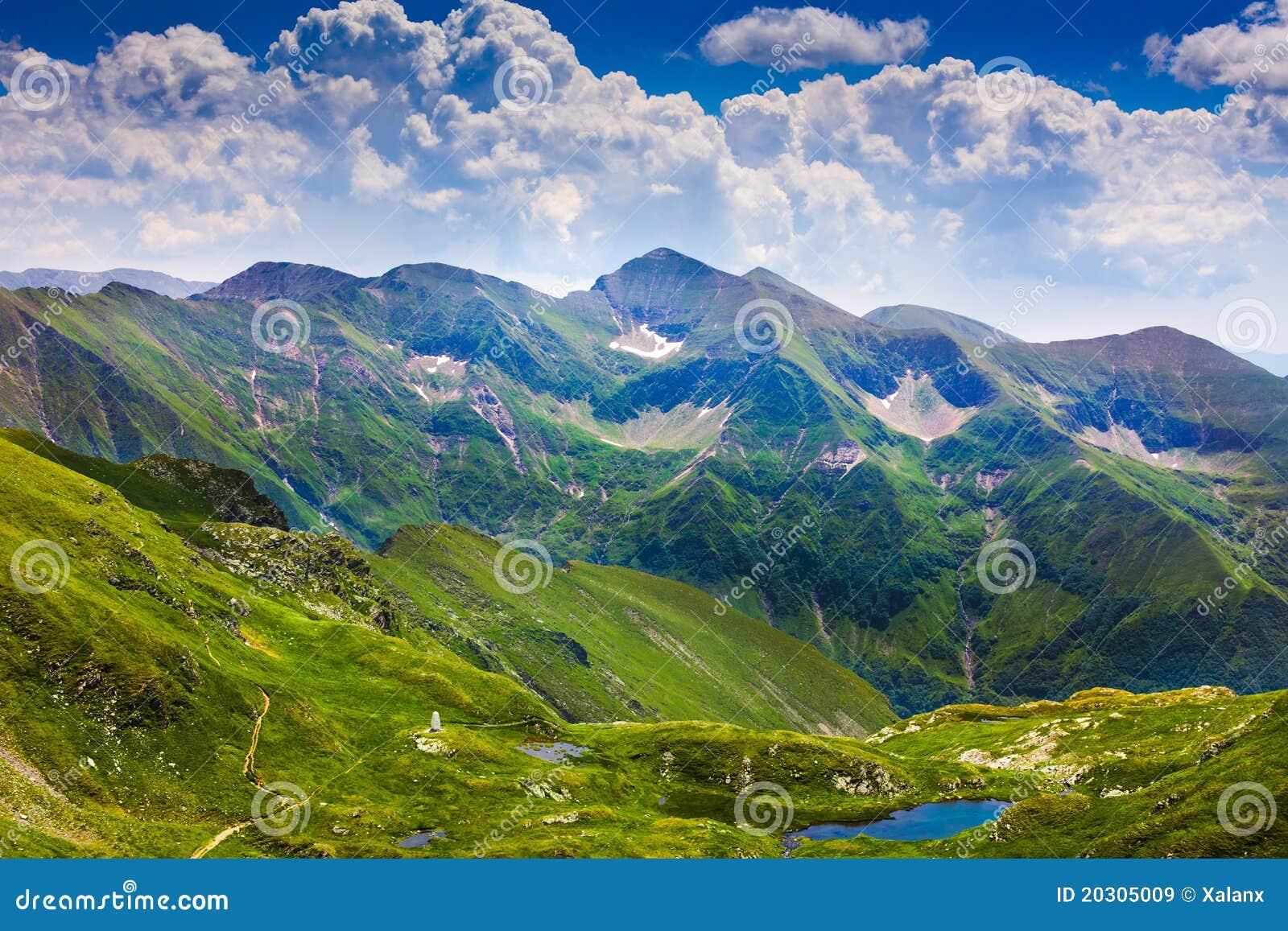 Horizontal avec des montagnes de Fagaras en Roumanie