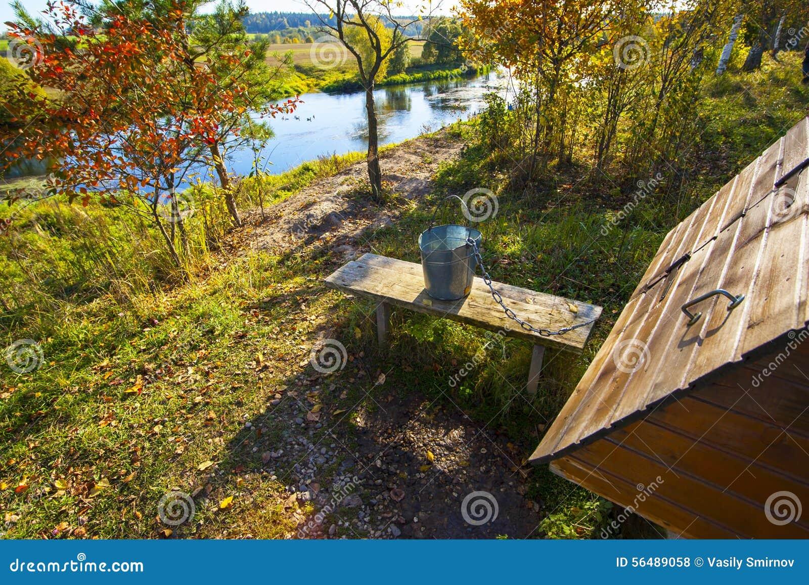 Horizontal avec un fleuve