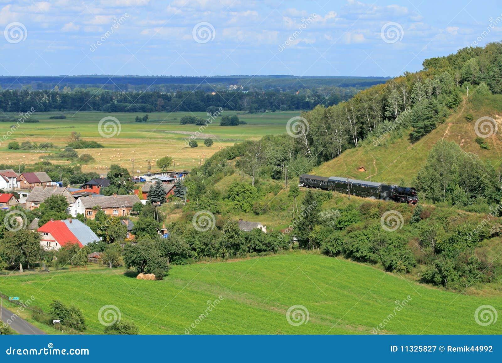 Horizontal avec un train de vapeur