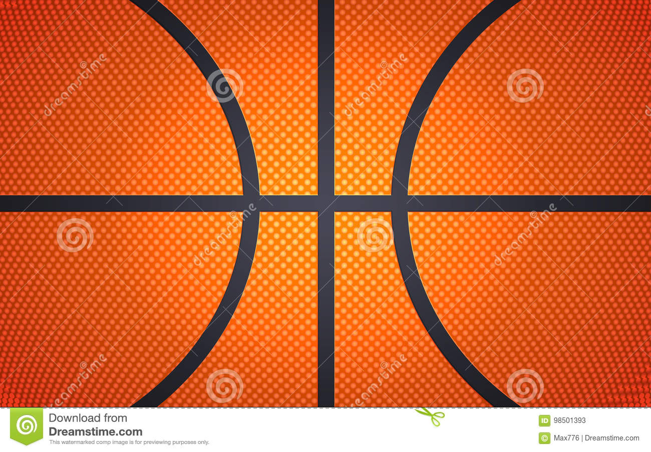 Horizontal ball texture for basketball, sport background, vector illustration