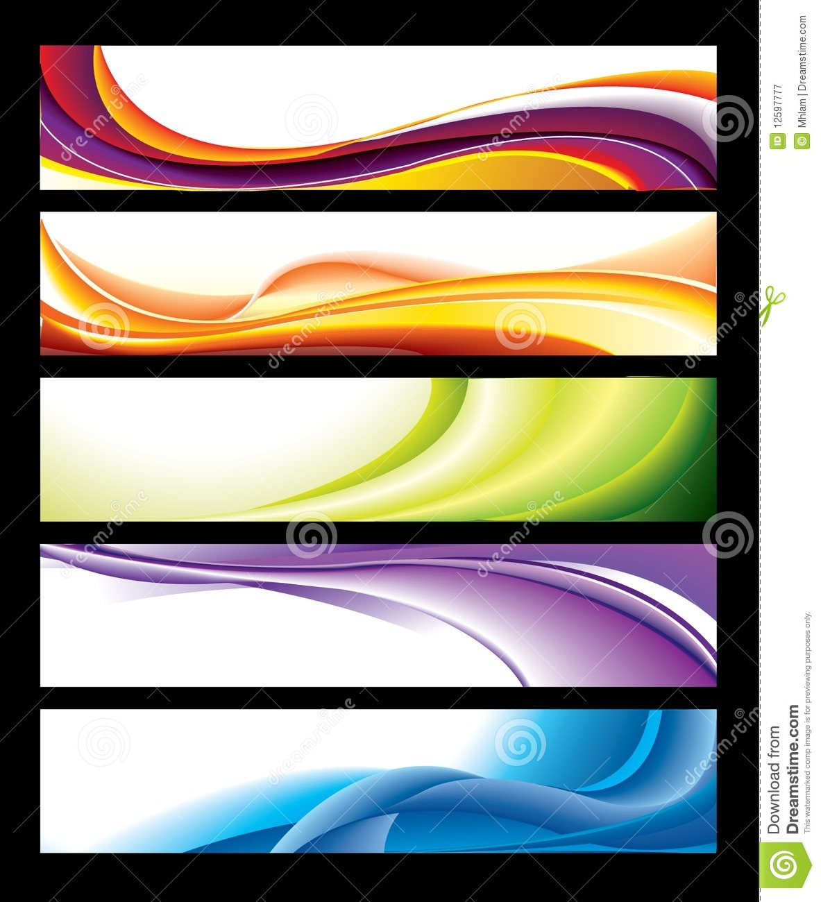 Horizontal Banner Collection Royalty Free Stock Photography - Image ...