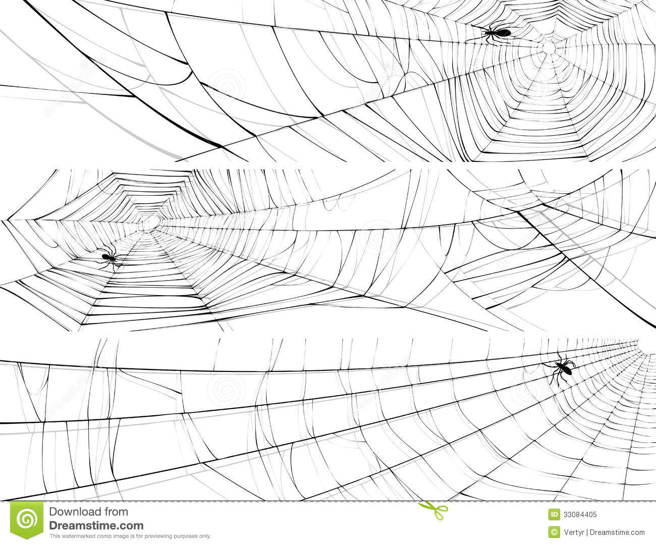 Horizontal Banner Of Web Spider Royalty Free Stock