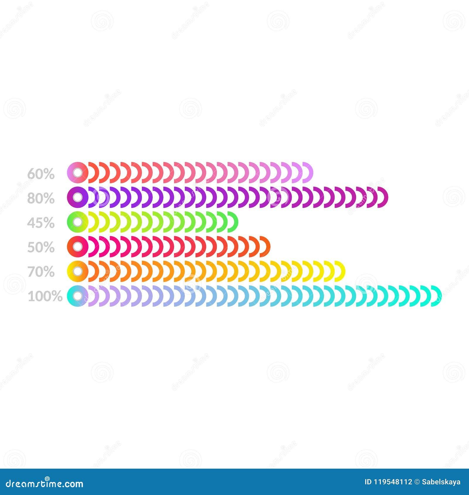 horizontal bar chart template business flat design graph for
