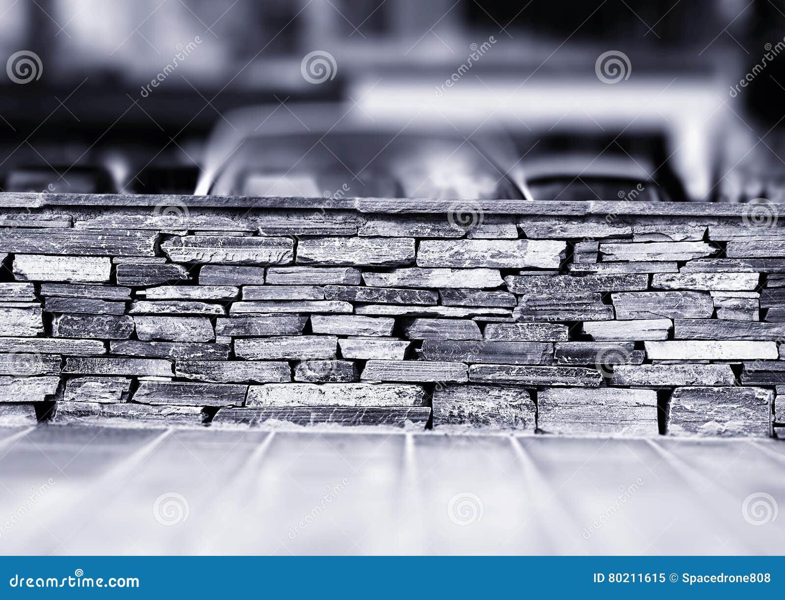 Horizontal Black And White Brick Wall Background Hd Stock Image Image Of Stone Border 80211615