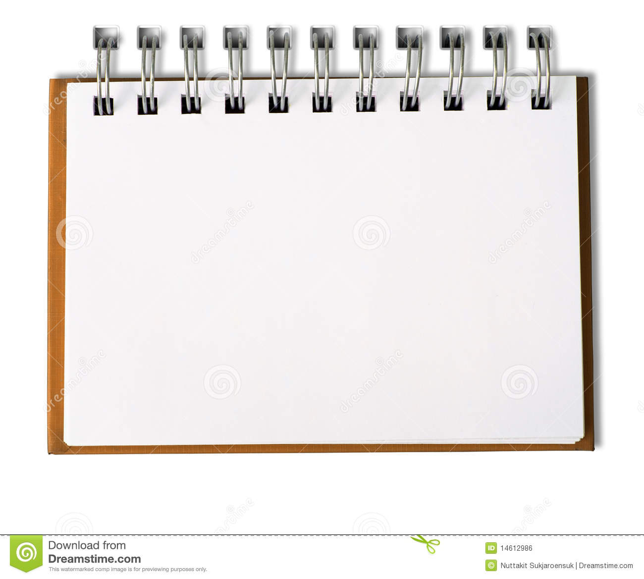 Photo Page: Horizontal Blank Note Book Stock Photo. Image Of Draw