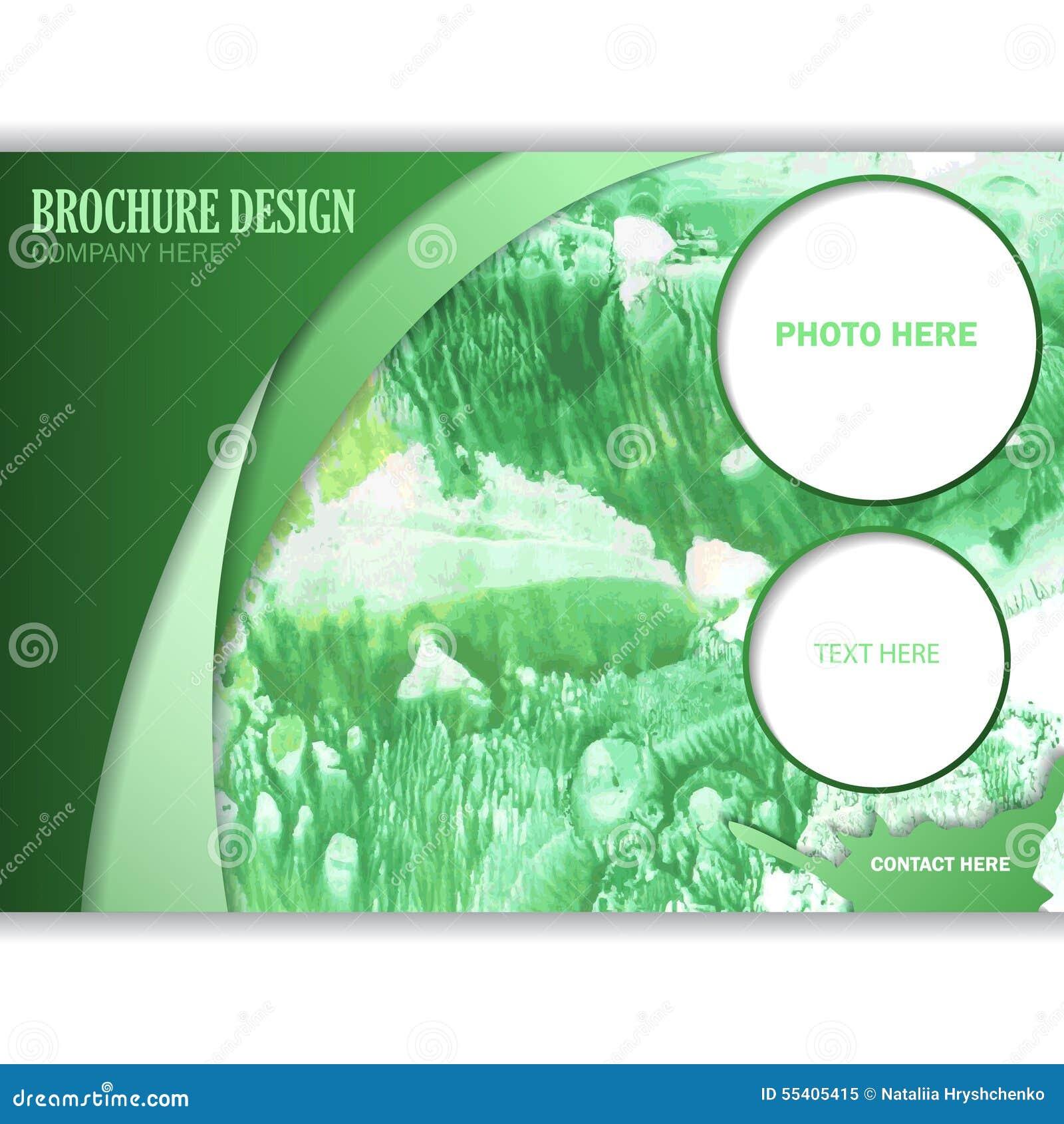 horizontal brochure design - horizontal business brochure for design stock vector
