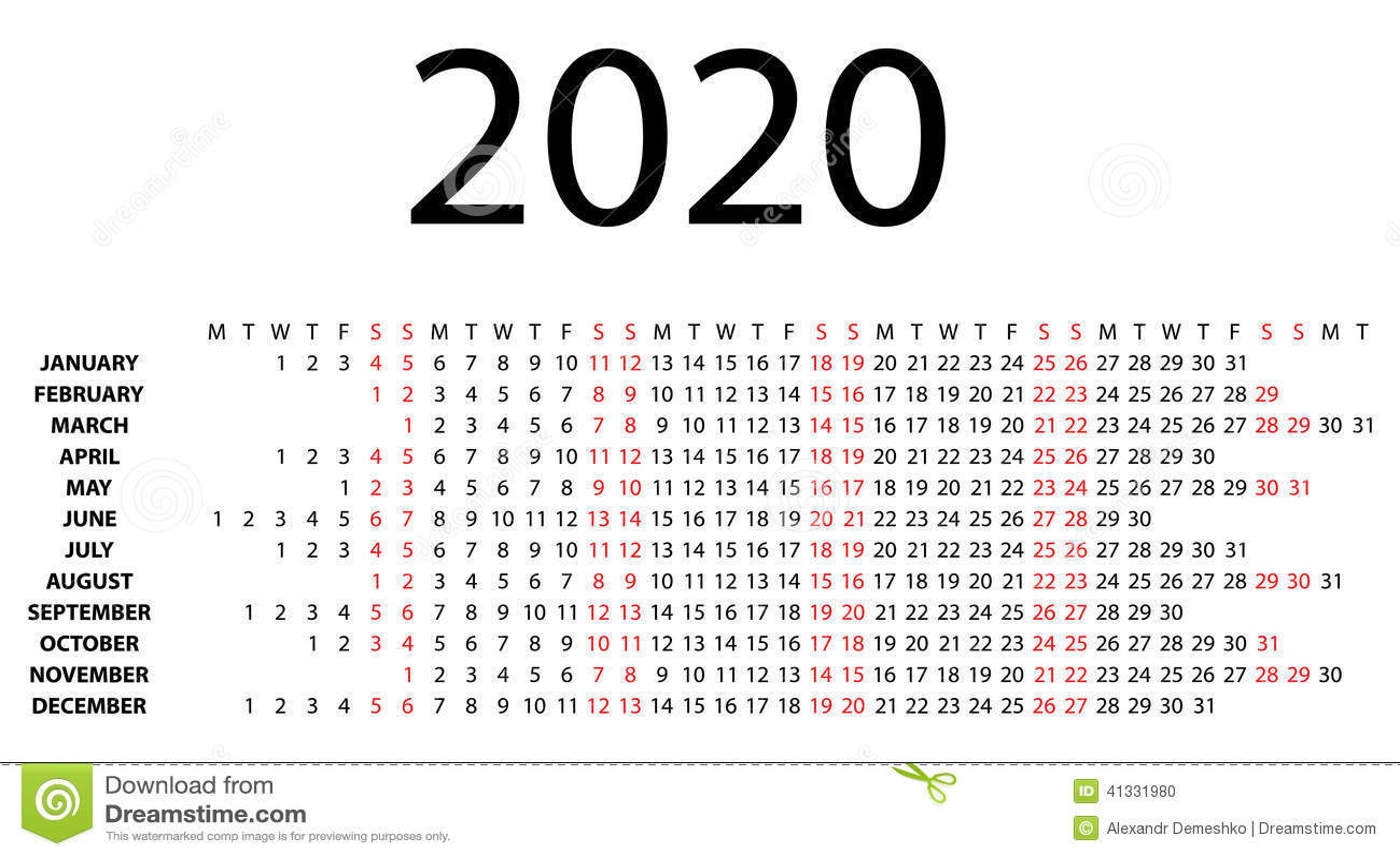 Calendar 2020 Printable One Page | Calendar Template 2016