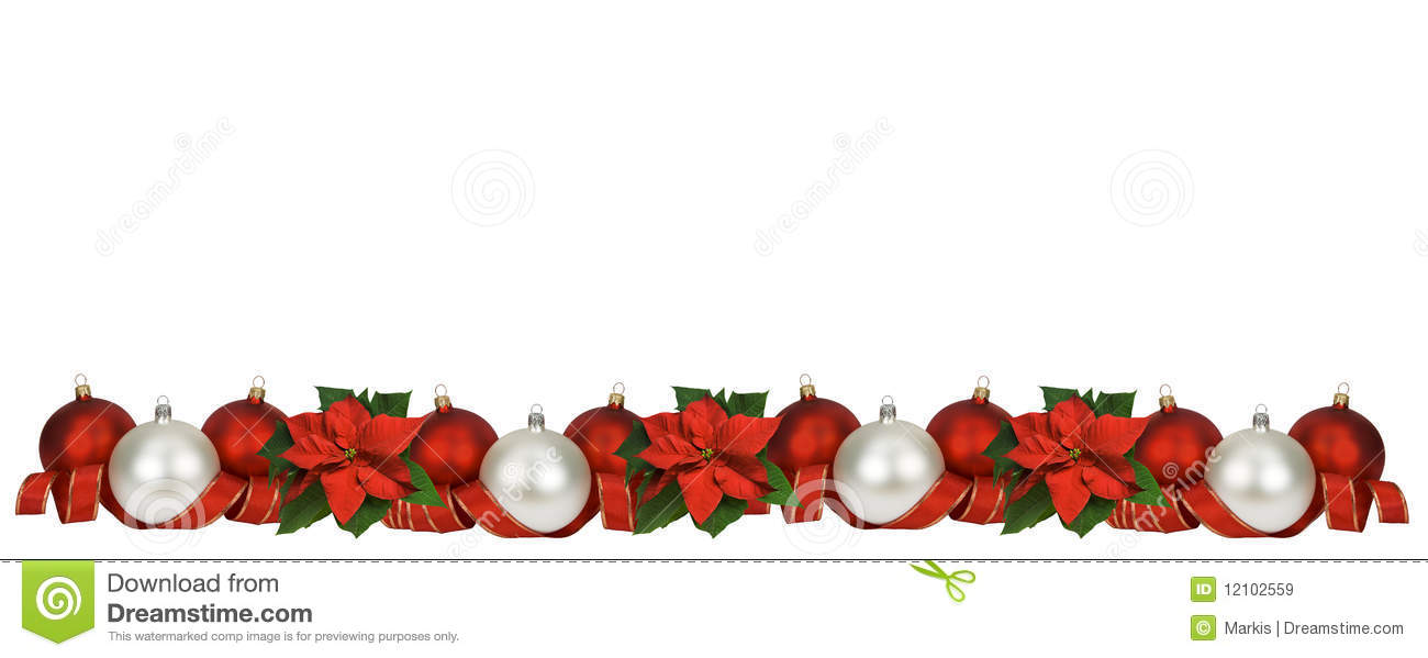 Horizontal Christmas Border Stock Image Image 12102559