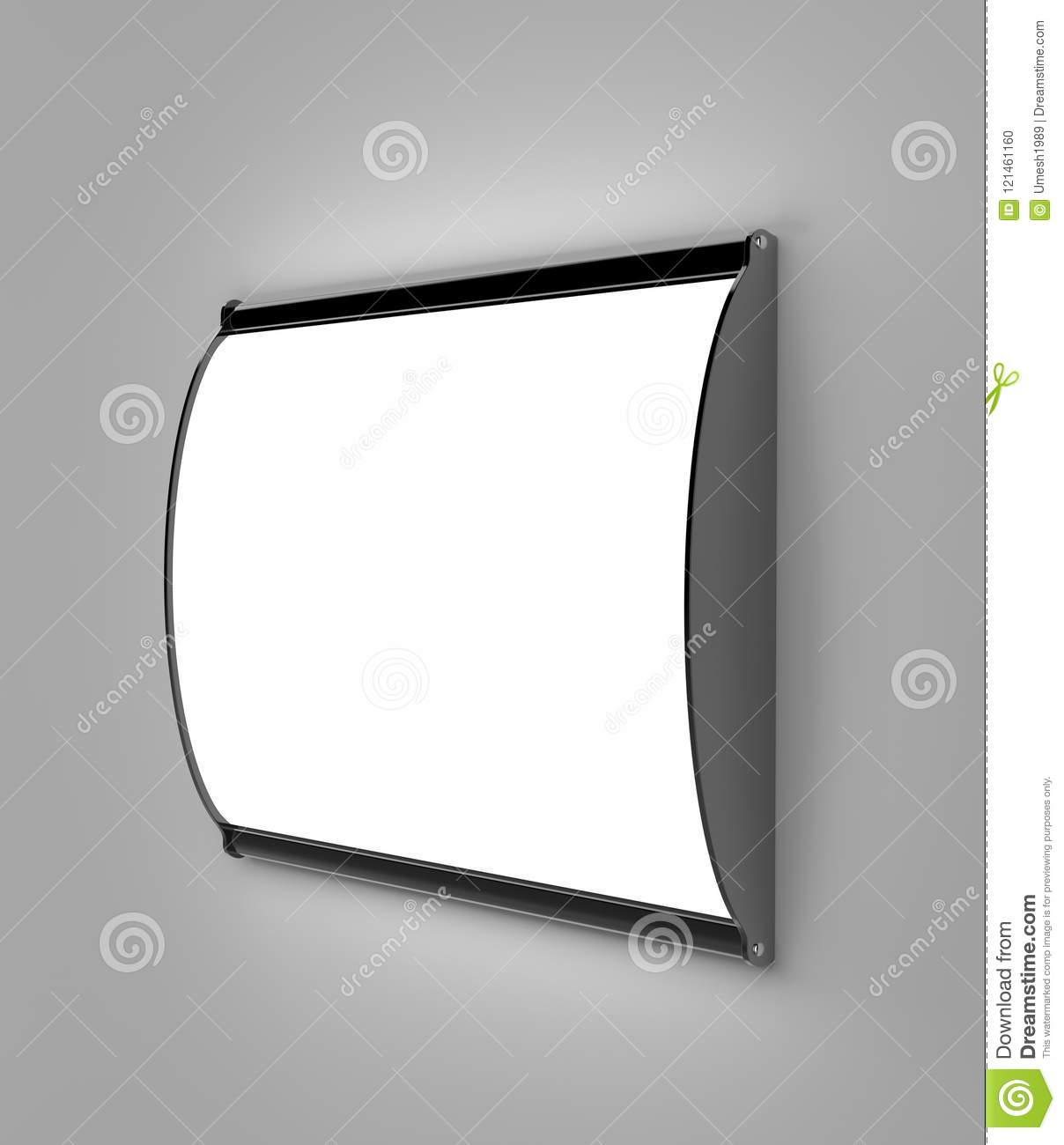 Horizontal Convex LED Light Box Single Sided Poster Display Or Sign ...