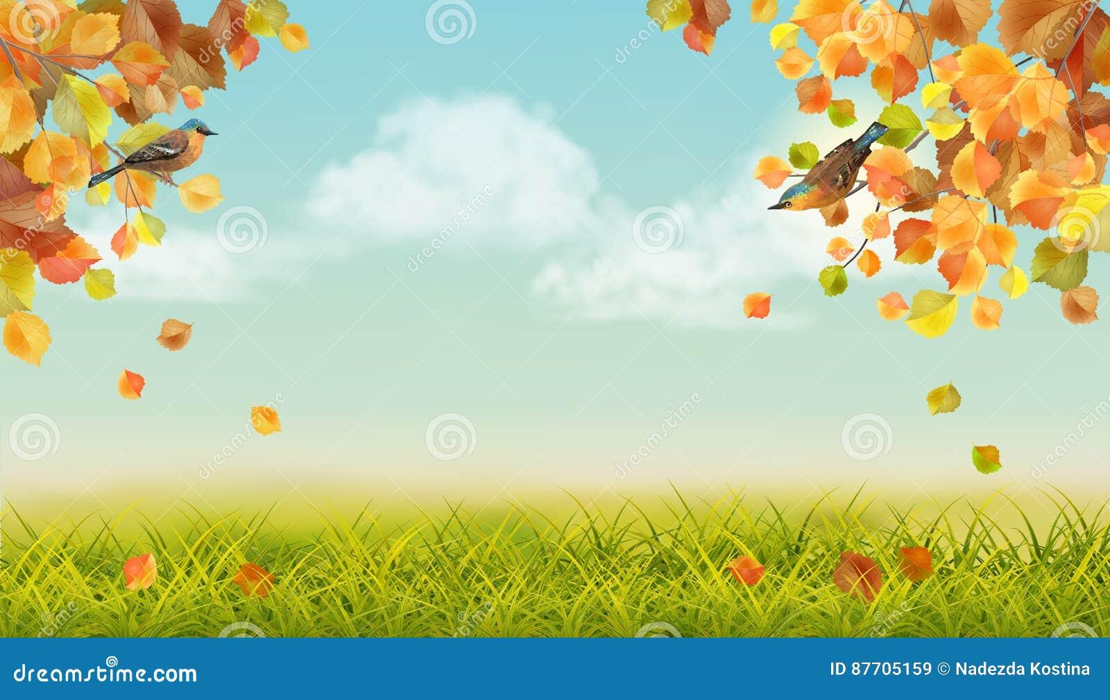 Horizontal d automne de vecteur