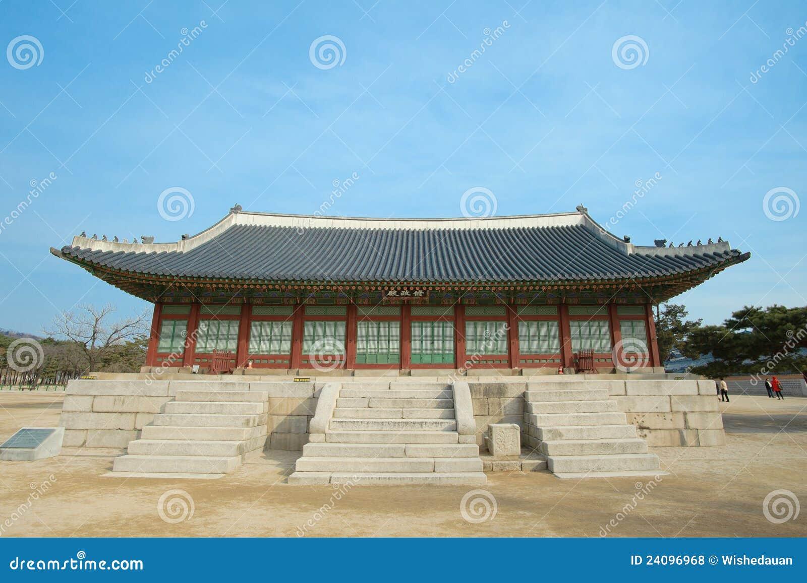 Horizontal d histoire de la Corée de palais de Kyongbok bel