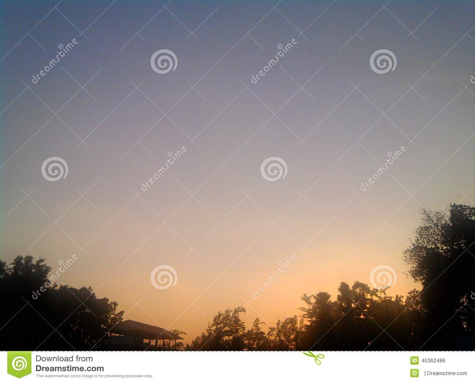 Horizontal de coucher du soleil