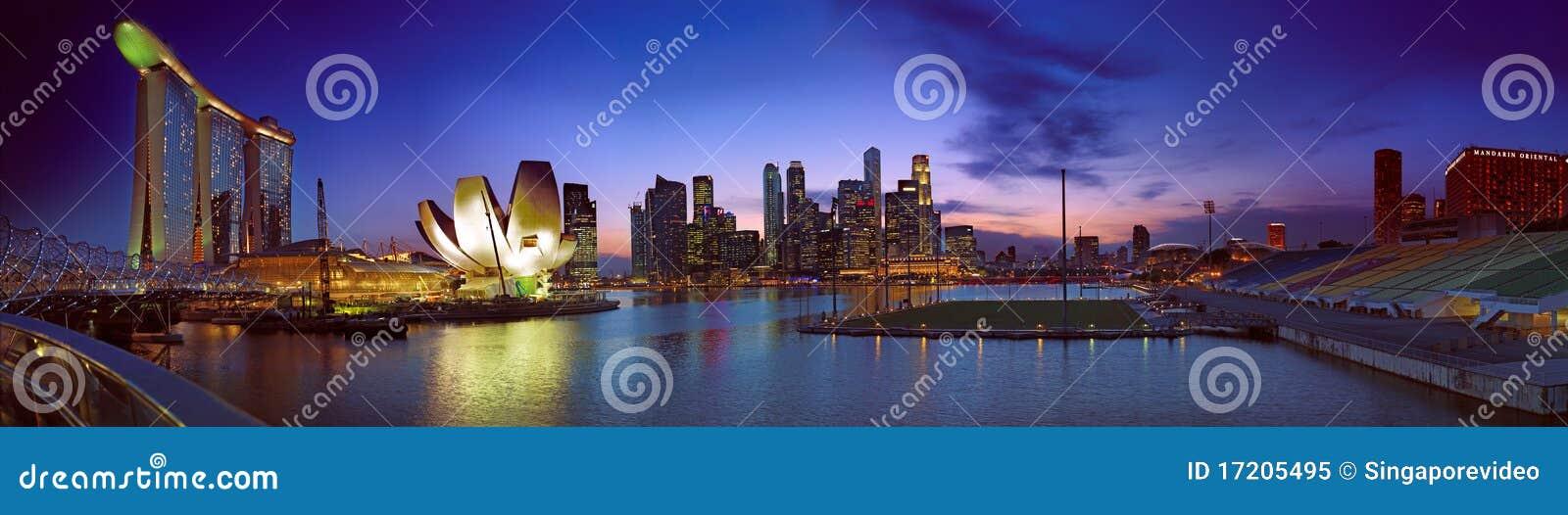 Horizontal de crépuscule de Singapour
