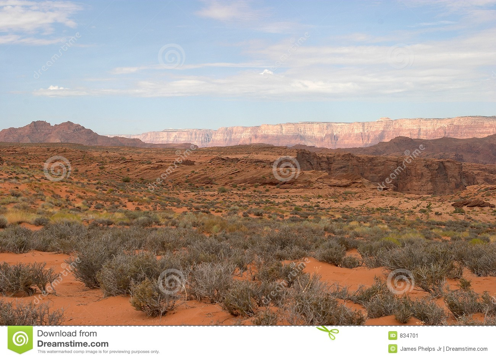 Horizontal de désert de l Arizona