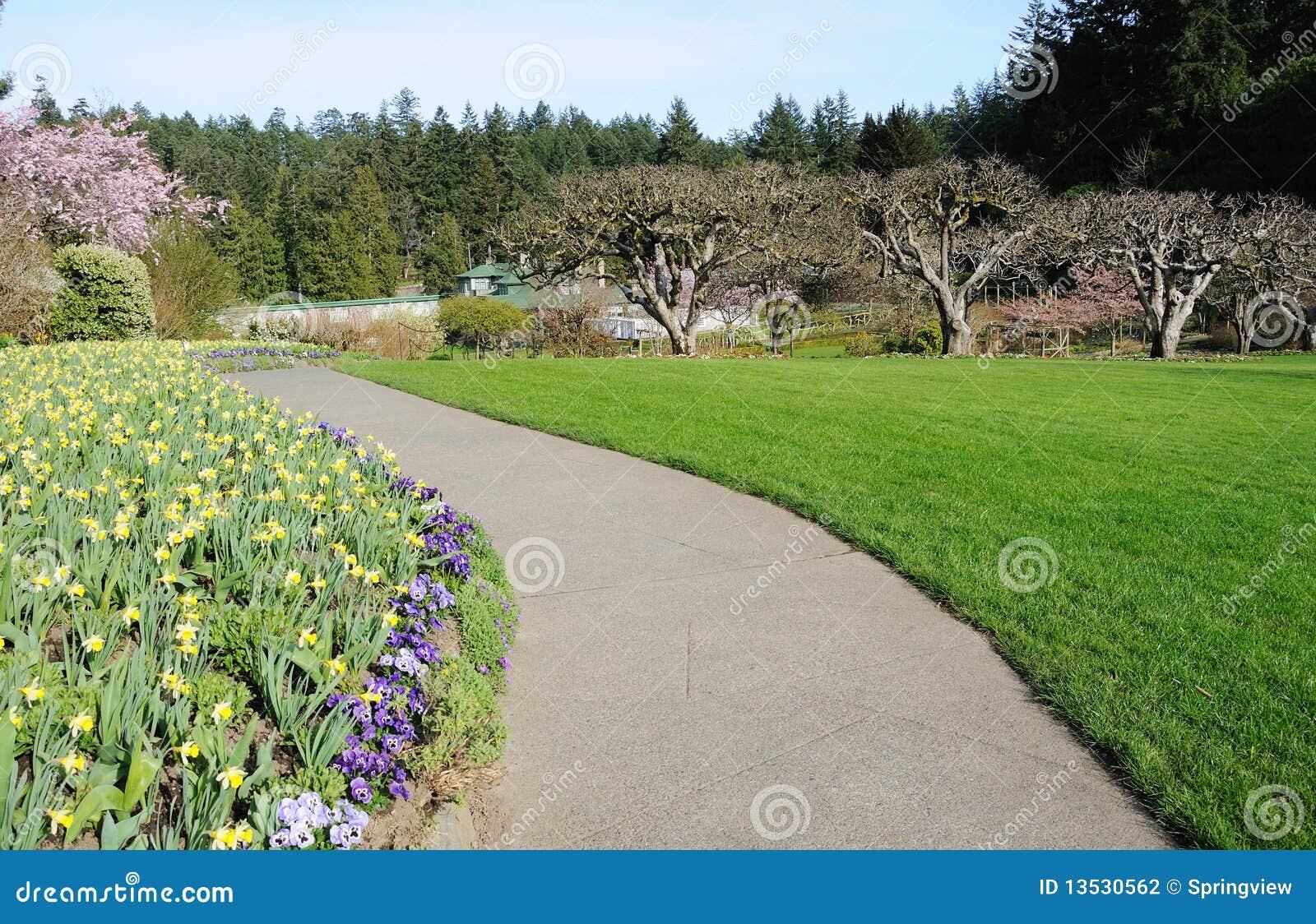 horizontal de jardin photographie stock image 13530562