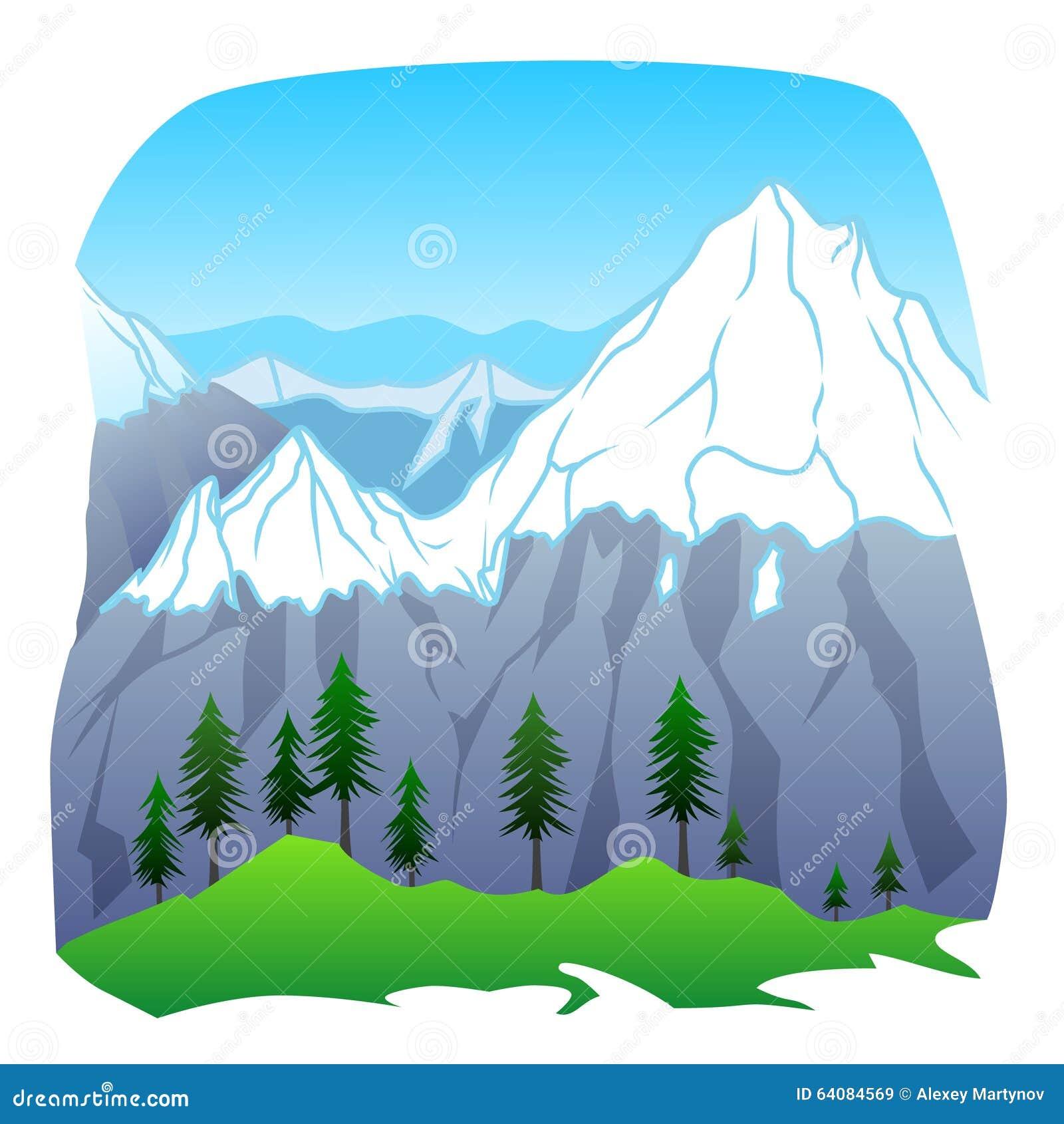 horizontal de montagne illustration de vecteur illustration du t 64084569. Black Bedroom Furniture Sets. Home Design Ideas