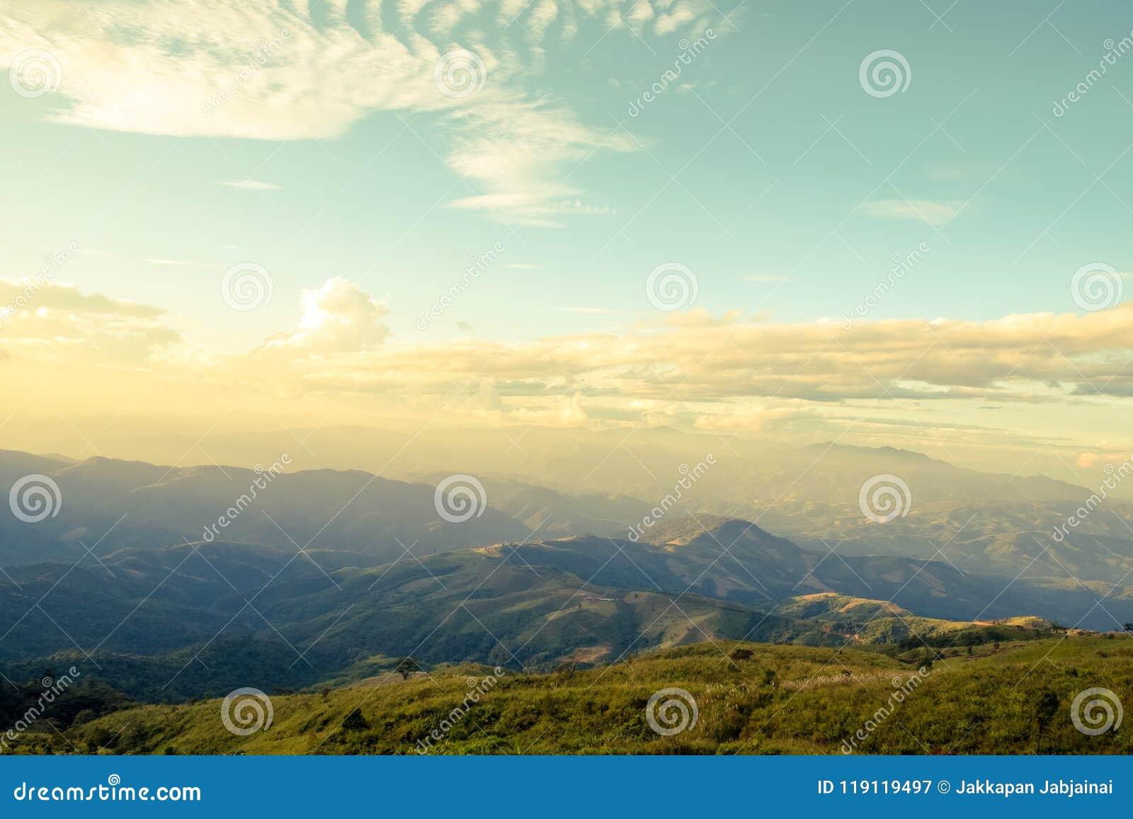 Horizontal de montagne d été
