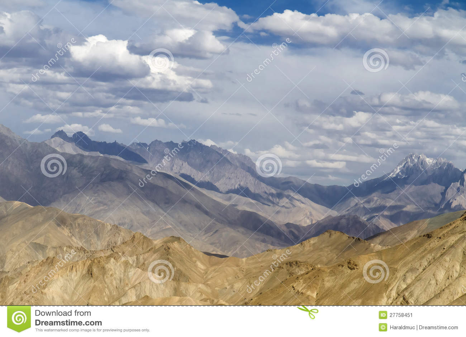 Horizontal de montagne de Ladakh, Inde