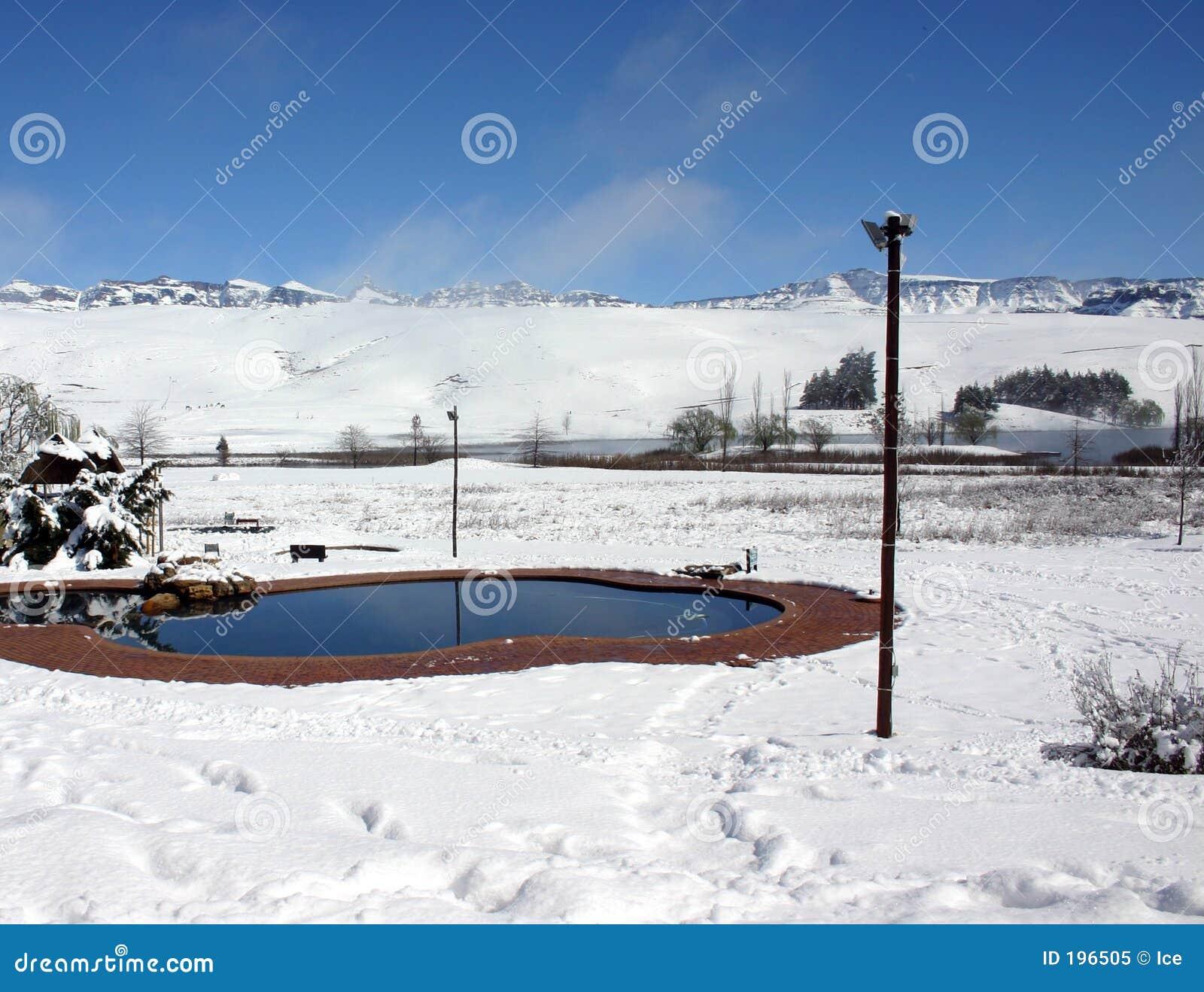 Horizontal de neige