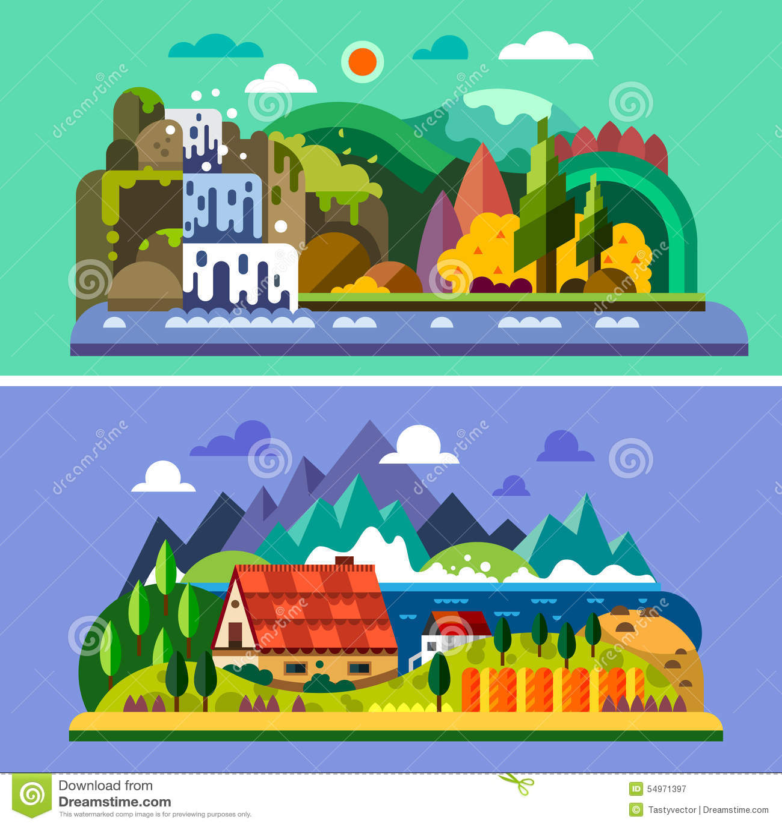 Horizontal de village