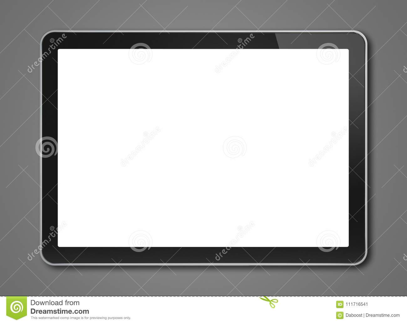 digital tablet pc smartphone template isolated on dark grey stock