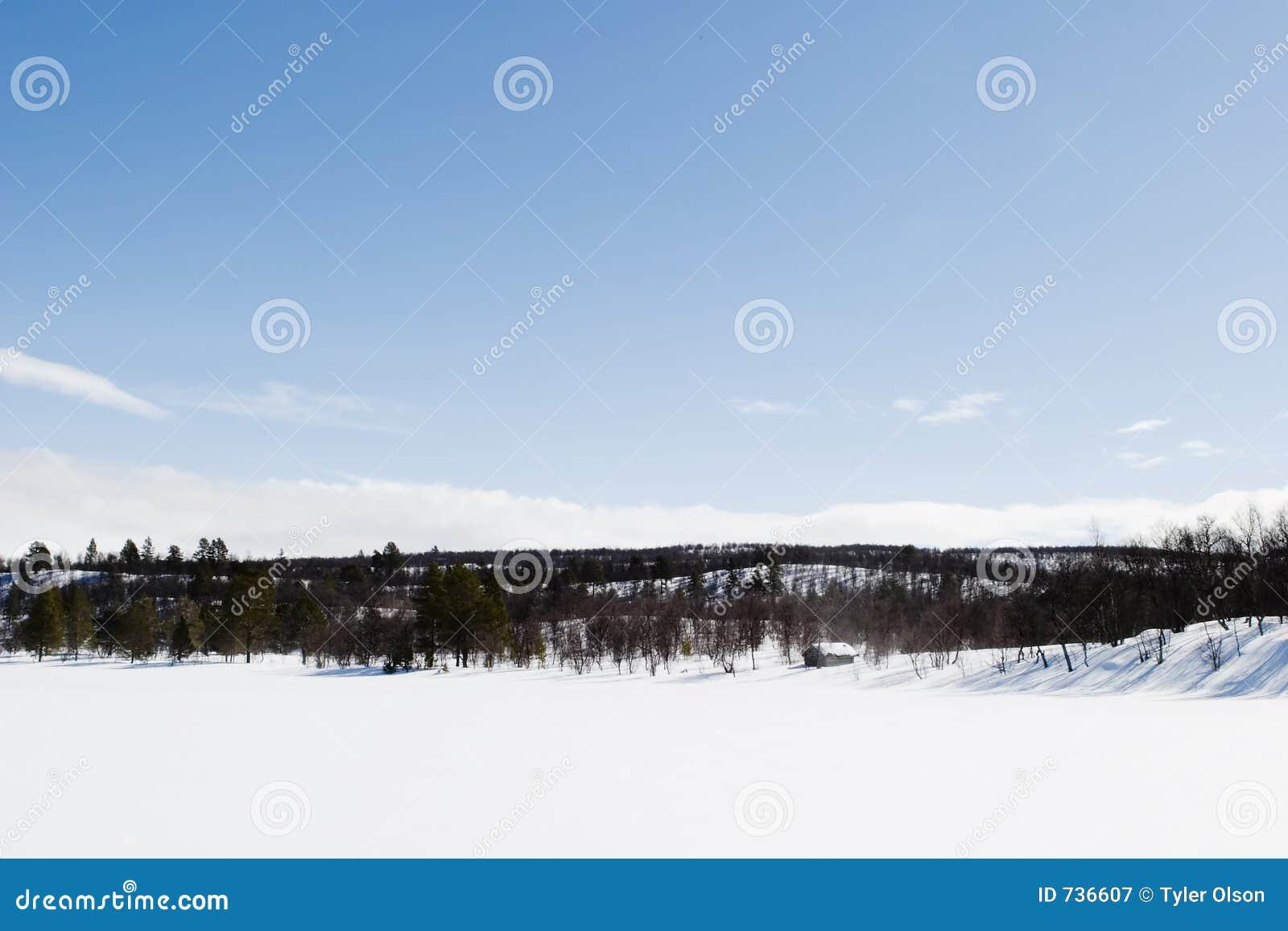 Horizontal gelé de lac