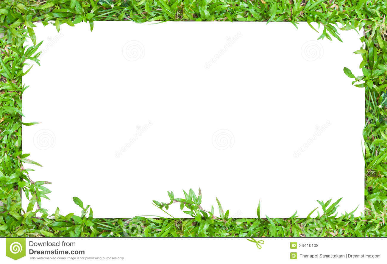 Horizontal grass border frame stock photo image of floor for Best grasses for borders
