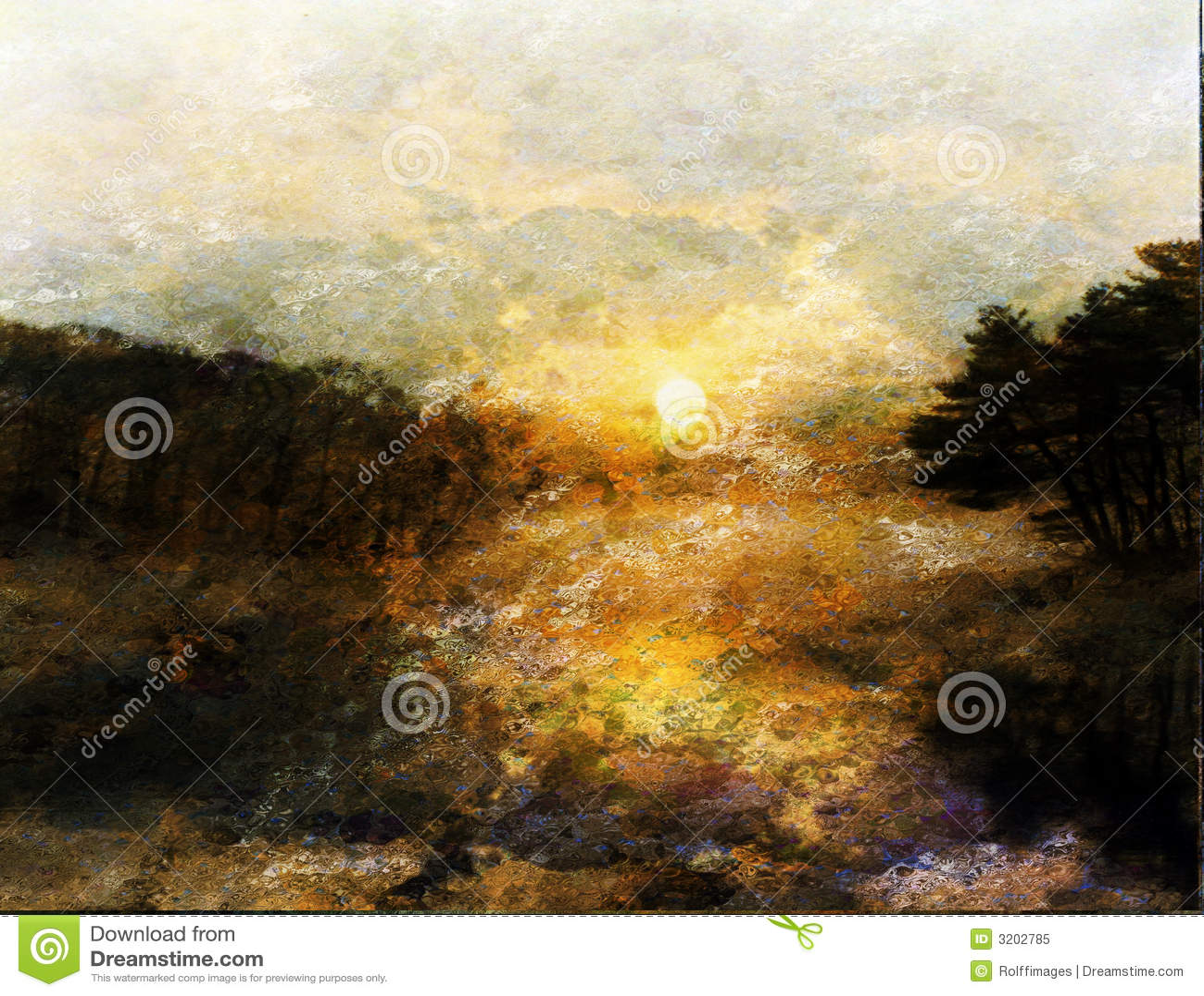 Horizontal impressionniste