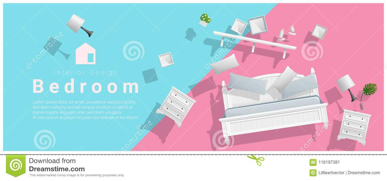 colorful furniture for sale. Download Horizontal Interior Banner Sale With Bedroom Furniture Hovering On  Colorful Background Stock Vector - Illustration Colorful Furniture For Sale