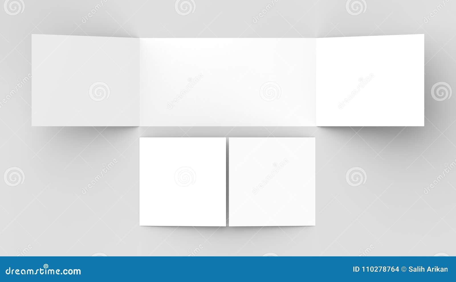 Horizontal - Landscape Gate Fold Brochure Mock Up On So