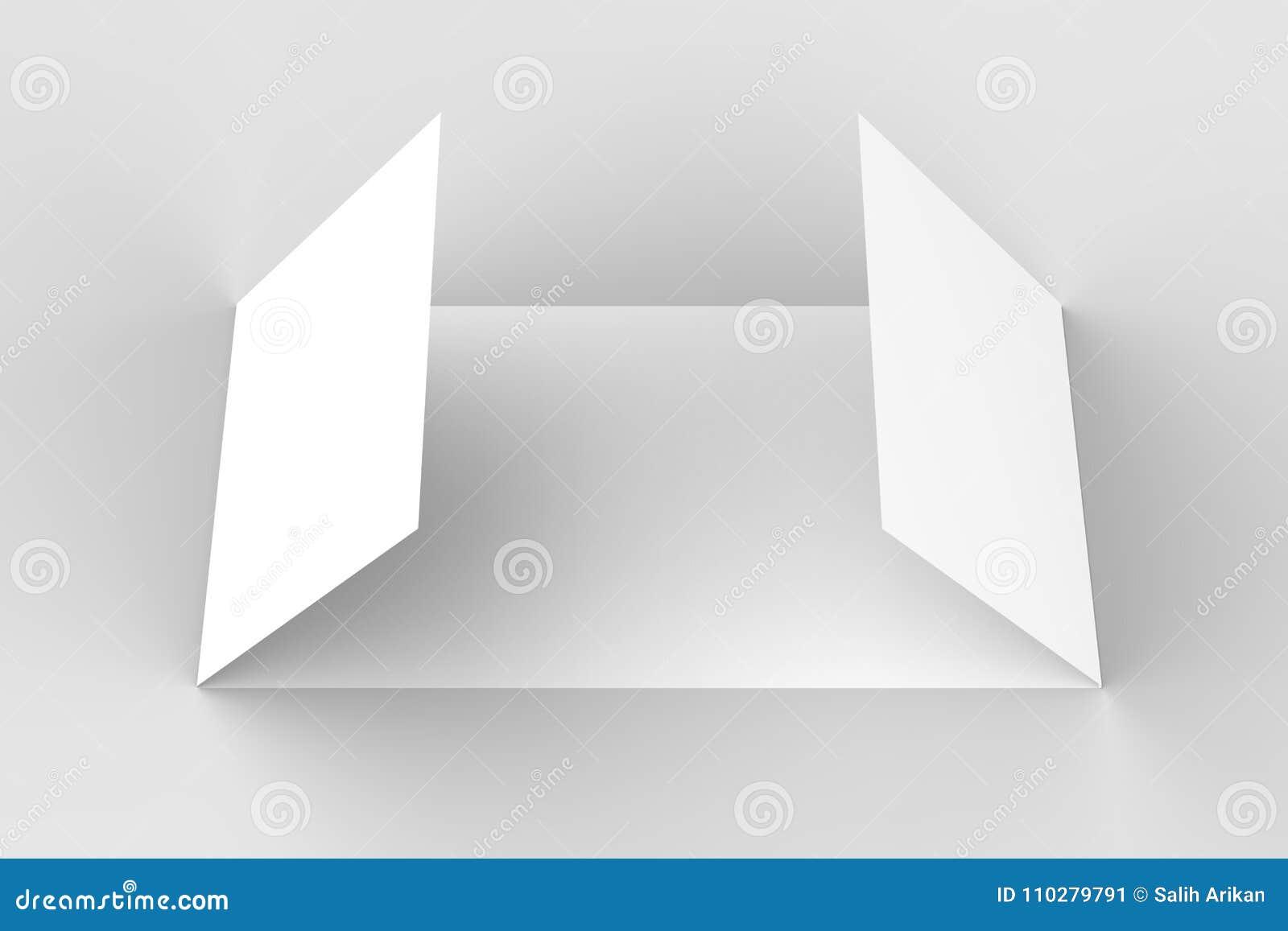 Download Horizontal   Landscape Gate Fold Brochure Mock Up On So Stock  Illustration   Illustration Of