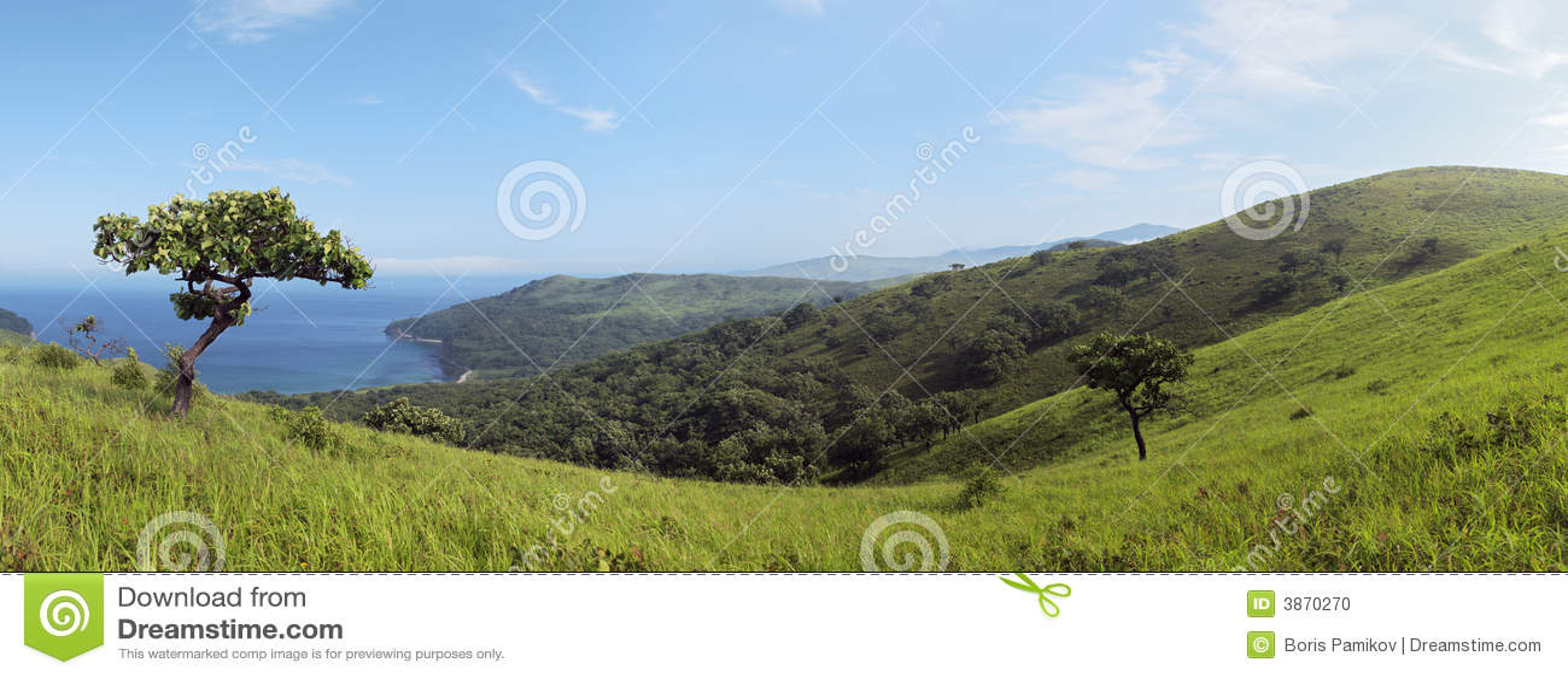 Horizontal littoral, panorama de rivage
