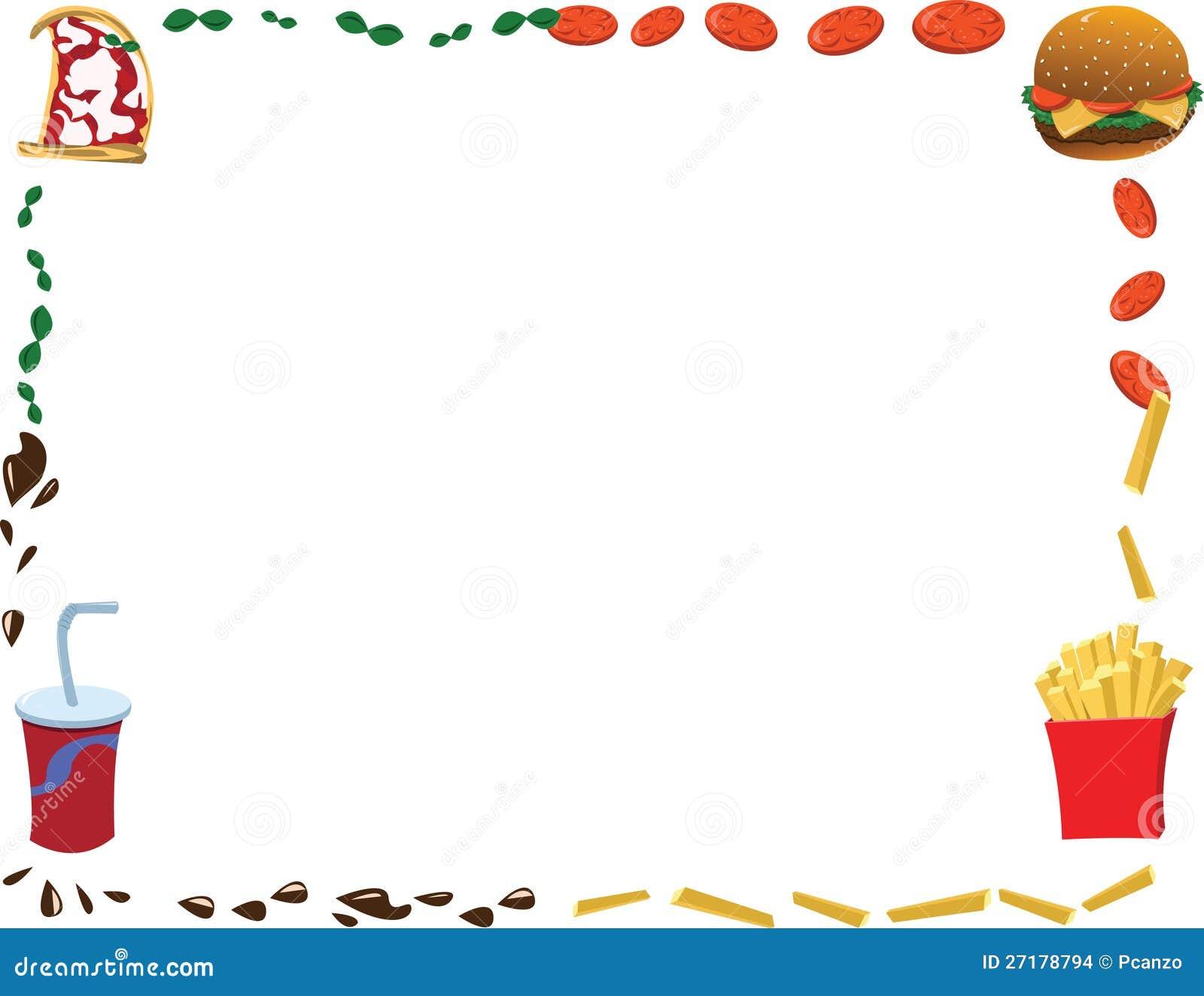 Southwest Kitchen Design Horizontal Menu Frame Stock Vector Illustration Of Fries