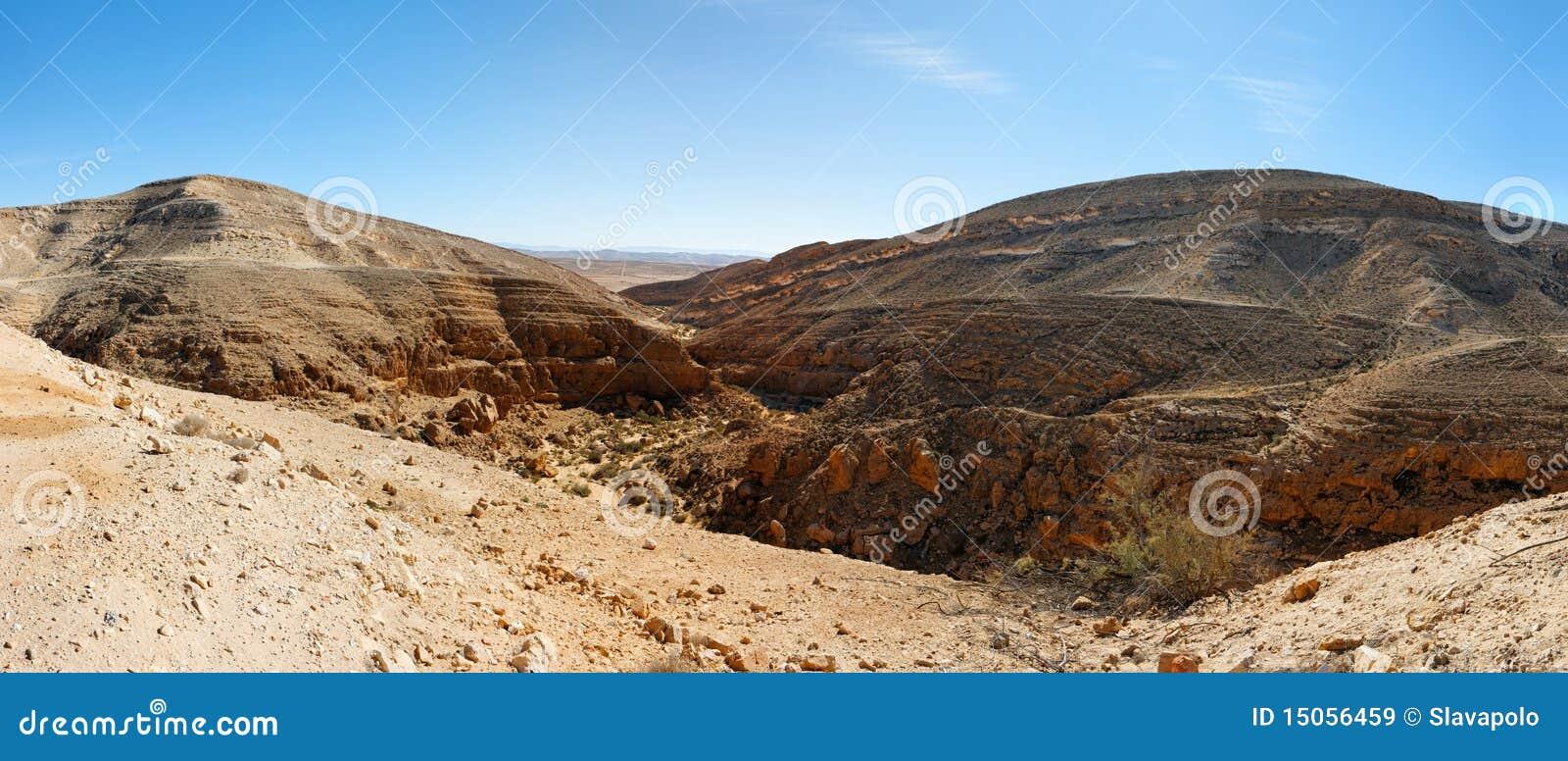 Horizontal montagneux de désert près de la mer morte
