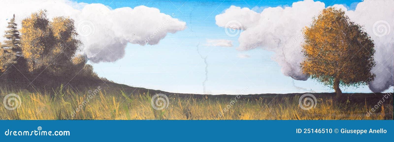 photo stock horizontal peinture sur la toile image