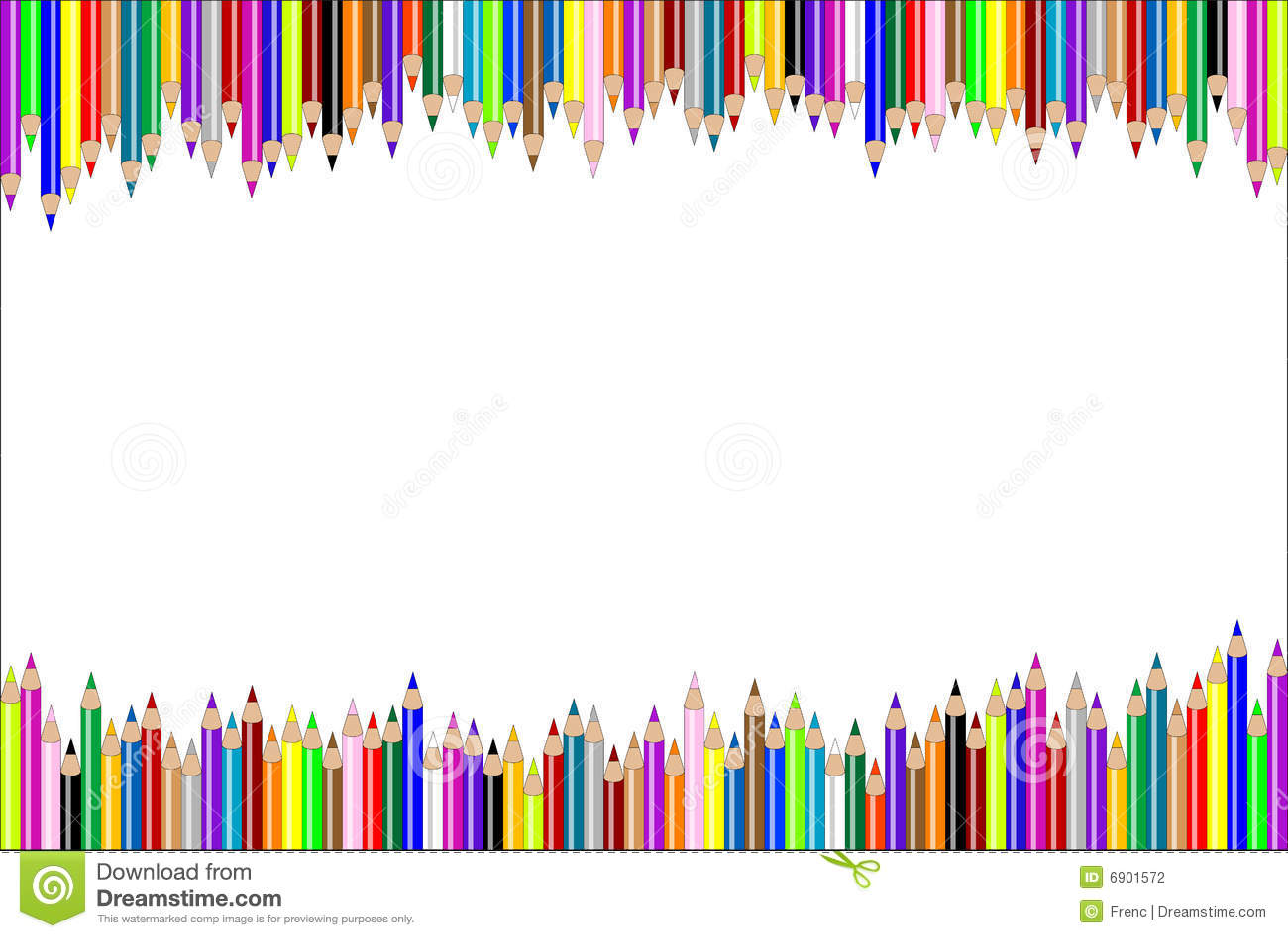 Horizontal Pencil Background Stock Vector Illustration