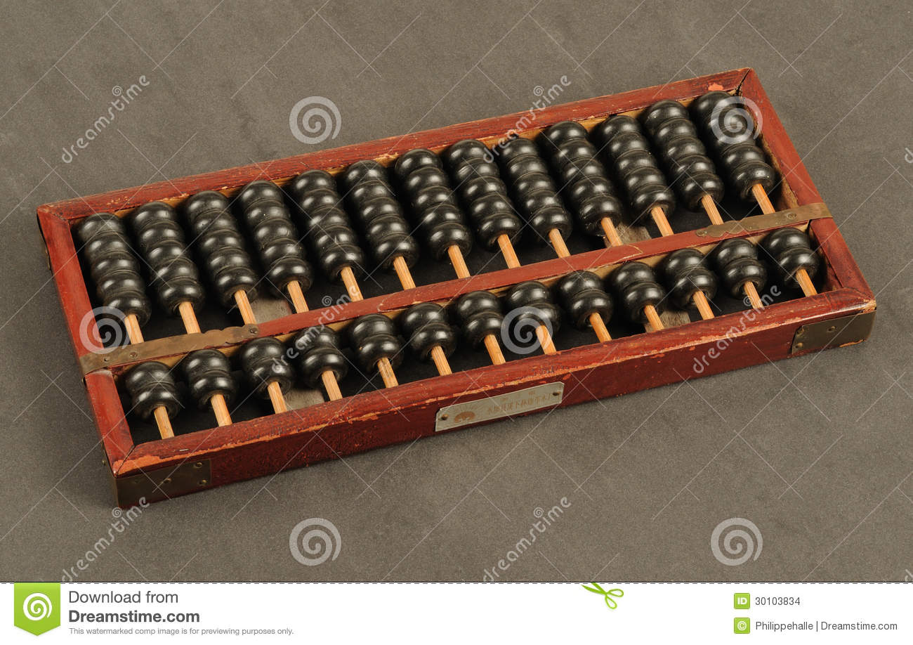 Ancient chinese abacus stock images image 30103834 for Abacus cuisine of china
