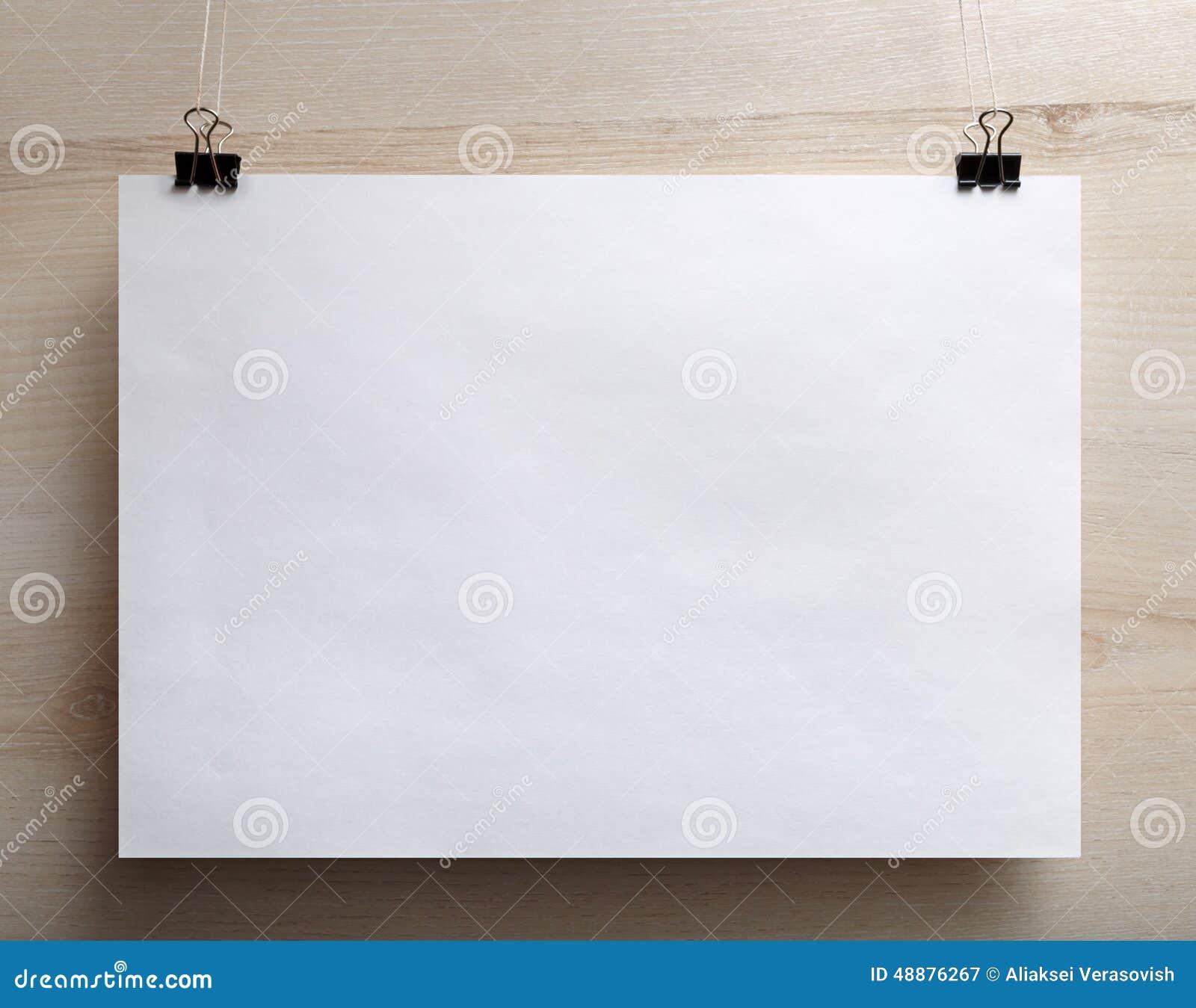 Horizontal Poster Stock Image. Image Of Nobody, Blank