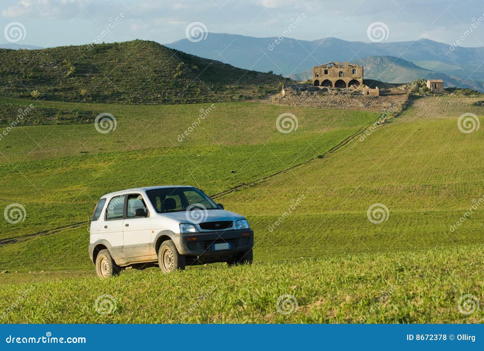 Horizontal pour un véhicule tous terrains