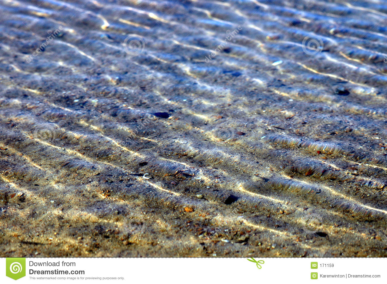 Horizontal ripples on the sea