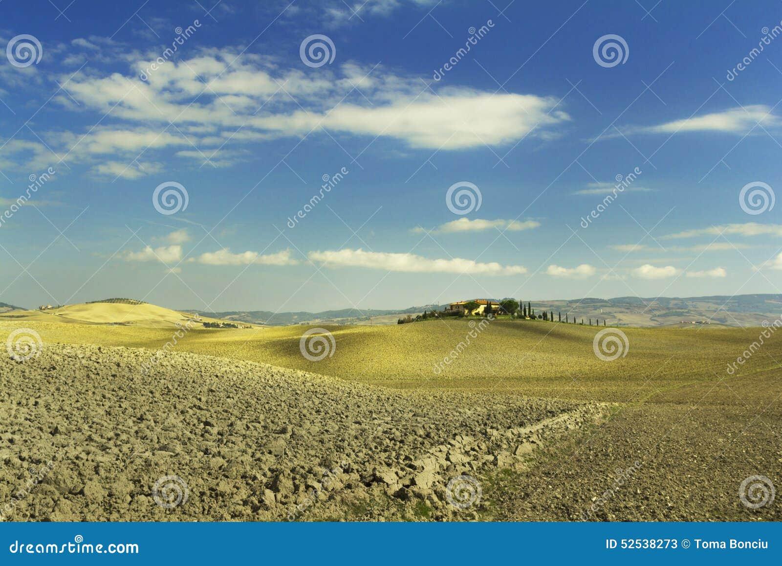 Horizontal rural de la Toscane