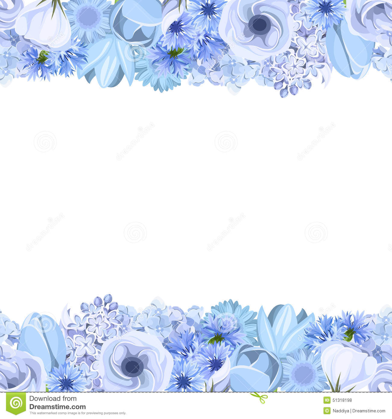 blue flower backgrounds vector - photo #10