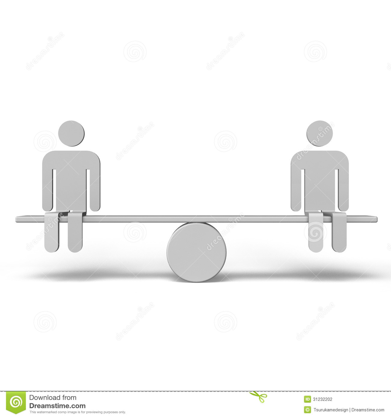 Horizontal seesaw and human stock photography image for Seesaw plans designs