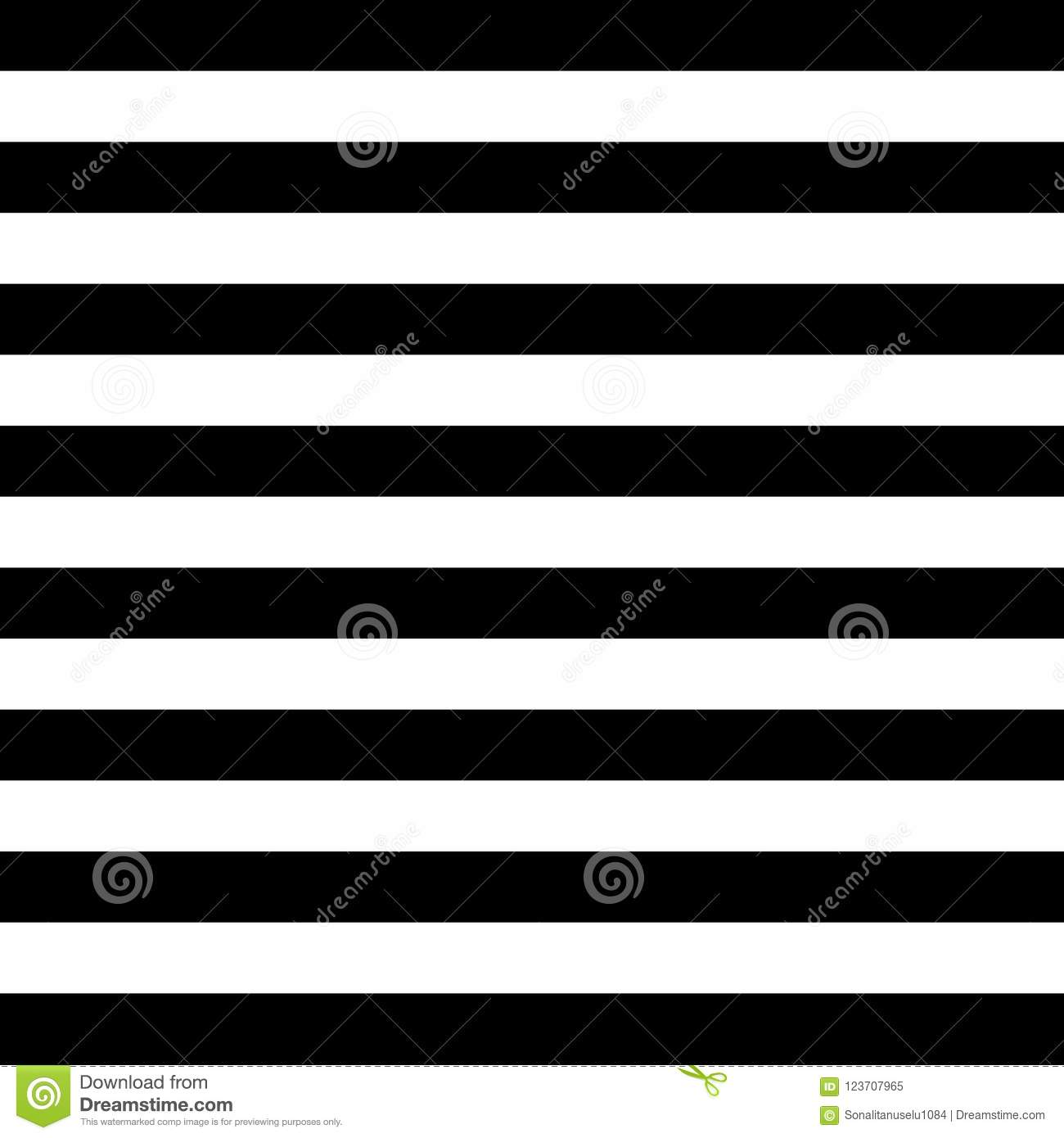 Horizontal Stripes Vector Seamless Pattern Striped Pattern