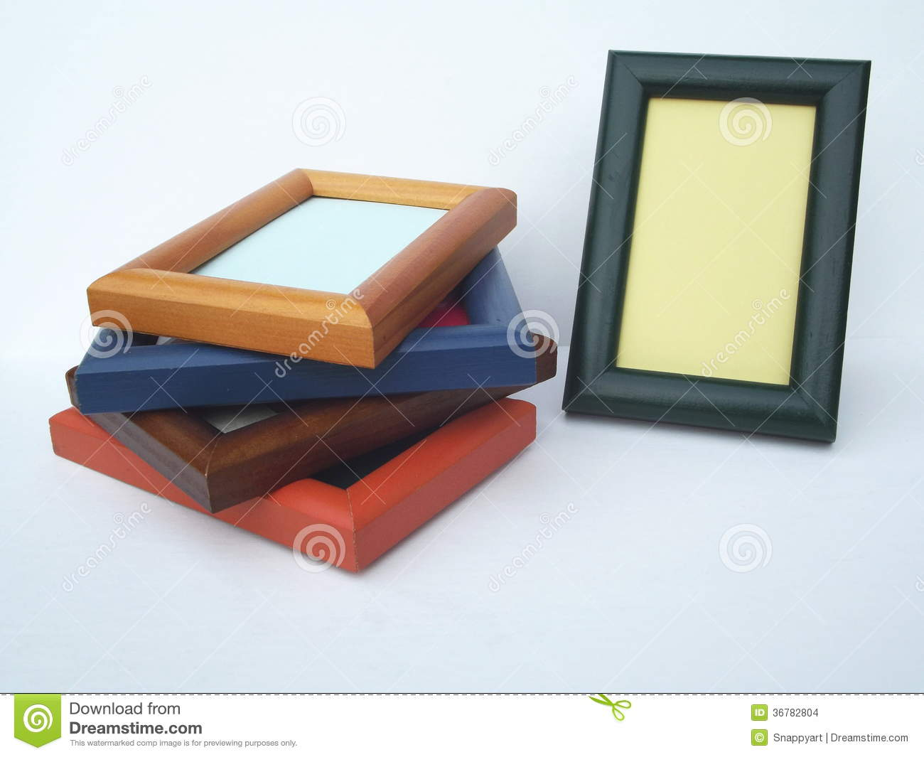 Horizontal And Vertical Picture Frames Stock Photo Image Of