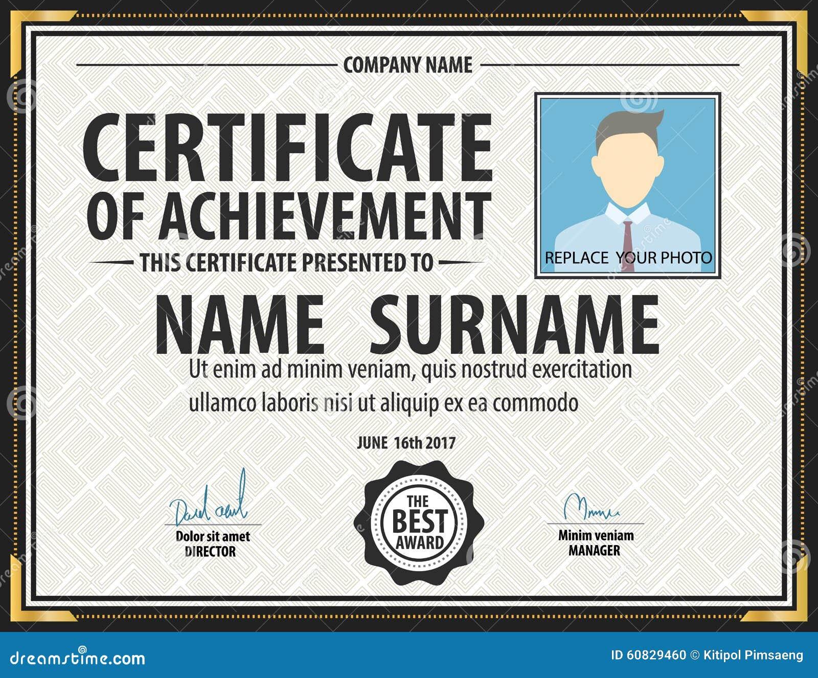 Horizontal Vintage Certificate Templatediplomaletter Size Lay