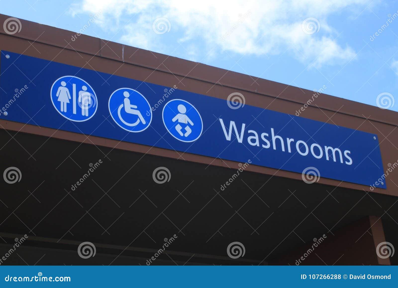 Horizontal Washroom Sign