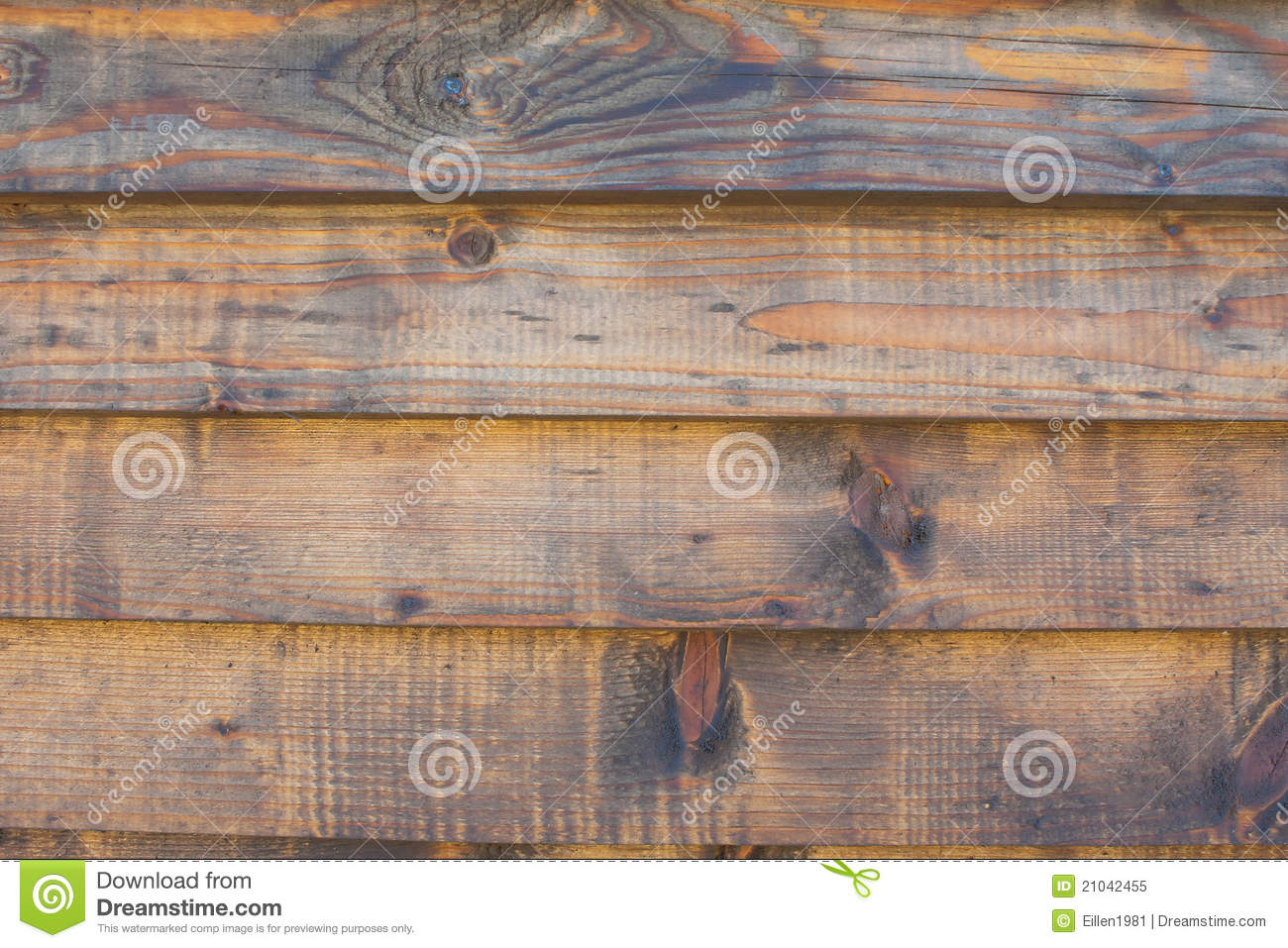 Horizontal Wooden Fence Texture Close Up Stock Image